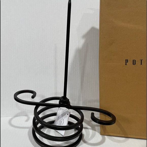 Pottery Barn Picnic Stakes Wrought Iron Wine Bottl